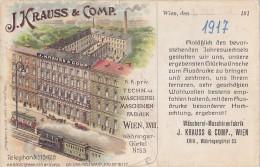 Wien XVIII - Wascherei Maschinenfabrik J.Krauss & Comp 1917 - Sonstige
