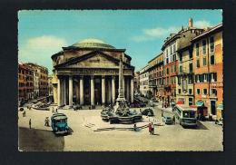 ROMA  - Il Pantheon -Autobus -Autos -Edit Cesare Capello Da Fotocolor Kodak Extrachrome-PAYPAL FREE - Panthéon