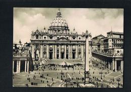VATICAN - ROMA  - Piazza S.Pietro  Voyagée 1953 -Bel Affranchissement Timbre Vatican -Recto Verso-   PAYPAL FREE - Vatican