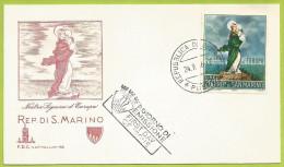 Saint-Marin 1966 686 FDC Europa Notre-Dame De L'Europe Nostra Signora D'Europa - FDC