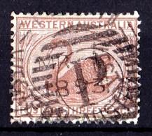 Western Australia 1873 Swan 3p Cinnamon Wmk Crown CC  Used P14  SG 63a - - - Oblitérés