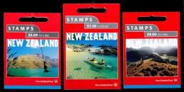 New Zealand 2001 Tourism Set Of 3 Mint Booklets - Booklets