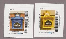 Privatpost Biberpost  Satz 2 Werte: Historische Briefkästen - BRD