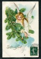 CPA - Ange - Joyeux Noël (relief) - Anges