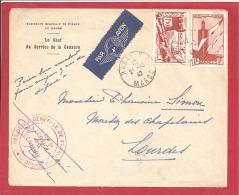N°Y&T  N° PA44+136 RABAT (Résidence Générale De France)        Vers   FRANCE   1942  2 SCANS - Marokko (1891-1956)