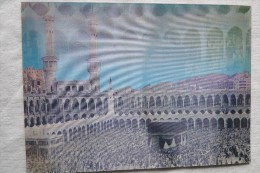 Saudi Arabia  Holy Kaaba In  Mecca Holy Masque Media Double View  3d  Lenticular Postcard Stereo    A 80