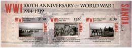 SAMOA - 2014 - Centenaire De La 1ere Guerre Mondiale  - BF Neufs // Mnh WW1 - Guerre Mondiale (Première)