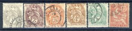 Creta 1902-03 Tipi Di Francia Dedicati. Serietta N. 1 - 6 USATI Catalogo € 14,50 - Unused Stamps