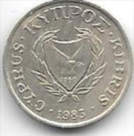 *cyprus 1 Cent 1983  Km 53.1  Unc One Date In Km !! - Cyprus