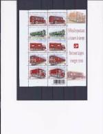 Belgie -Belgique 4056/60 Velletje Van 10 Postfris - Feuillet De 10 Timbres Neufs  -  Postvoertuigen Vroeger En Nu - Feuilles Complètes