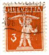 VARIETES  Sous 3 Et + / 1917 1922 / YVERT ET TELLIER  No 159  /  HELVETIA / - Errors & Oddities