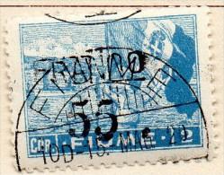 """PIA - FIUME  - 1919 -  Francobollo Della Serie """"Allegorie E Vedute"""" Soprastampato FRANCO E Nuovo Valore    -  (UN 86 - Occupation 1ère Guerre Mondiale"""