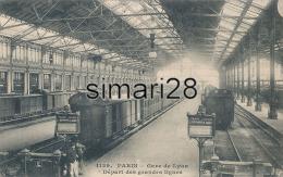 PARIS - N° 1129 - GARE DE LYON - DEPART DES GRANDES LIGNES - Métro Parisien, Gares