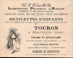Carte Commerciale CYCLES ,TOURON (mauvezin, Gers) (PPP2181) - Advertising