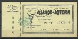 Estonia Estonie Estland 1939 Lottery Ticket Lotterilos UNC !! - Lottery Tickets