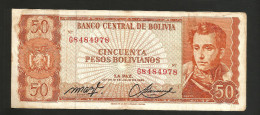 BOLIVIA - El BANCO CENTRAL De BOLIVIA - 50 BOLIVIANOS (1962) - Bolivia