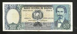 BOLIVIA - El BANCO CENTRAL De BOLIVIA - 500 PESOS BOLIVIANOS (1981) - Bolivia