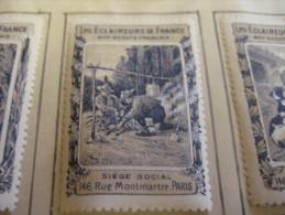 10 Timbres Boy-scout Français - SERIE Complet - Eronifilie 1918 Approx. Grande Guère - Superbe  Rare ECLAREURS DE FRANCE - Padvinderij