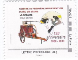 MTAM Sapeurs Pompiers La Crèche (79) Dessin De R. Irolla - Personalizzati (MonTimbraMoi)