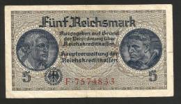 DEUTSCHLAND / GERMANY - 5 REICHSMARK (1940 -  1945) - WWII - [ 4] 1933-1945 : Terzo  Reich