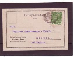 Morchenstern Bei Tannwald, Böhmen Nach Kosten Bei Teplitz, 1915 - Lettres & Documents