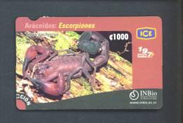 COSTA RICA  -  Remote Phonecard as Scan