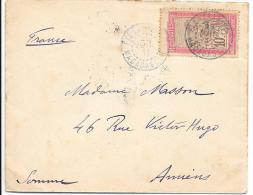LETTRE DE MADAGASCAR... FIANARANTSOA.CACHET BLEU..1911..POUR LA FRANCE N°98..TBE.. - Cartas