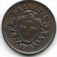 Switzerland 1 Rappen 1914  Km 3.2 Xf+ - Suisse