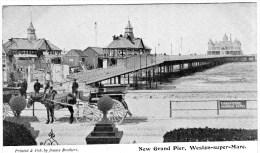 Postcard - Weston-Super-Mare Grand Pier, Somerset. J - Weston-Super-Mare