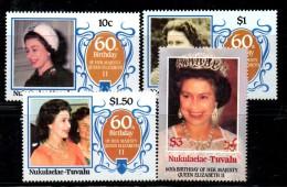 PB160 - NUKULAELAE TUVALU , 60th Birthday QEII , La Serie  ***  MNH - Tuvalu