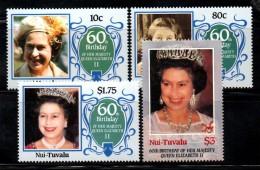 PB161 - NUI TUVALU , 60th Birthday QEII , La Serie  ***  MNH - Tuvalu
