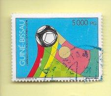 TIMBRES - STAMPS - GUINÉE-BISSAU / GUINEA-BISSAU -1994- FOOTBALL - COUPE DU MONDE - USA 94 - TIMBRE OBLITÉRÉ - World Cup