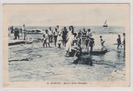S.SPIRITO - SALUTI DALLA SPIAGGIA , Italy , Old Postcard / Cartolina , Travelled 1931. - Italia