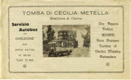 ROMA - Pubblicità Per Il Servizio Di Autobus, - Dépliants Touristiques