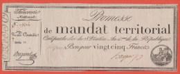 MANDAT TERRITORIAL - 25 Francs Du 28 Ventose AN 4 Avec Série - Assegnati