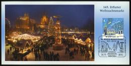 72263) BRD - Michel 3183 - SoST-Karte - 99084 ERFURT Vom 24.11.2015 - 165. Weihnachtsmarkt, Kirche Auflage 2.000! - Poststempel - Freistempel