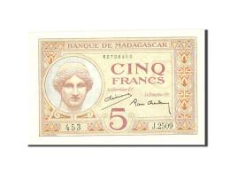 Madagascar, 5 Francs, 1937, KM:35, Undated, SPL - Madagascar
