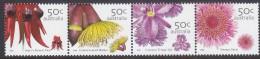 AUSTRALIA, 2005 FLOWERS STRIP 4 MNH - Nuovi