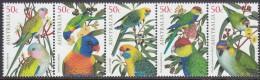 AUSTRALIA, 2005 PARROTS STRIP 5 MNH - Ongebruikt