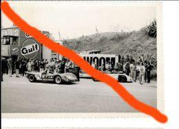 54 TARGA FLORIO 1970 BOX FLORIOPOLI PROTOTIPI FIAT ABARTH 3000 MERZARIO - ORTNER GULF PORSCHE 908 12 FOTO ORIGINALE 9X13 - Coches
