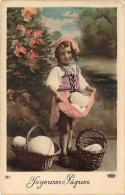 Fêtes De Paques - Joyeuses Paques (oeufs Fillette) (colorisée) - Ostern