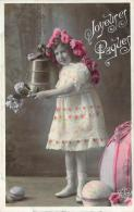Fête De Paques - Joyeuses Pâques (fillette, Cloche, Oeufs) - Ostern