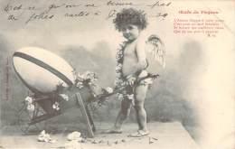 Fête De Paques - Oeufs De Pâques (angelot) (poëme) (cachet Perlé Chateau-L'Eveque) - Pâques