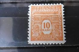 Timbre Neuf FRANCE 1944 Yt 629 10f Orange Type Arc De Triomphe - 1944-45 Arc De Triomphe