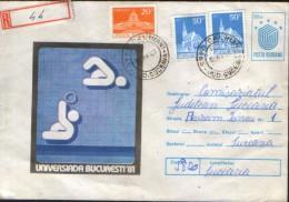 Romania- Postal Stationery Cover 1981 (147),used -Sport - Universiada - Water Polo - Postal Stationery