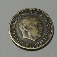 1947 - Espagne - Spain - UNA PESETA, Franco, *51, KM 775 - [ 4] 1939-1947: Nationalistische Regering
