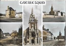 Guerlesquin (Finistère) - Multivues: Rue Principale, Eglise, Ancien Auditoire... - Carte JOS Colorisée - Guerlesquin