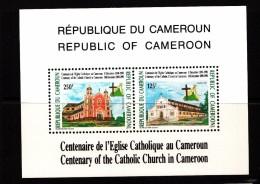 1991 Churches Souvenir Sheet - Kameroen (1960-...)