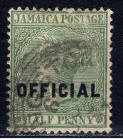JA+ Jamaika 1890 Mi 2 Dienstmarke - Giamaica (...-1961)