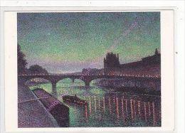 CP TABLEAU MAXIMILIEN LUCE Le Louvre Et Le Pont Du Carrousel Effet De Nuit - Illustratori & Fotografie
